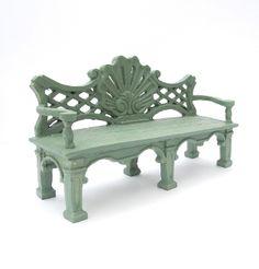 Lovin' this new bench! #miniaturegarden