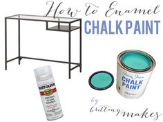 howtoenamelchalkpaint2; VITTSJÖ paint cover - don't forget to apply the enamel clear protective finish!