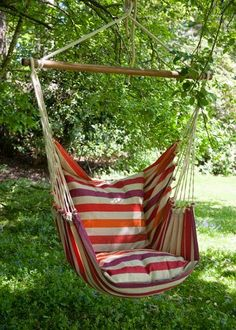This swing hammock chair looks so inviting