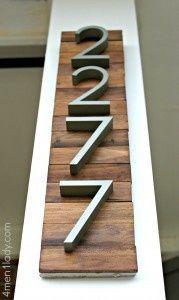 house numbers on wood <3 Barn wood & maybe horizontal