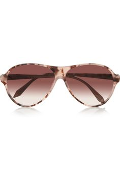 Victoria Beckham|Aviator-Style Acetate Sunglasses.