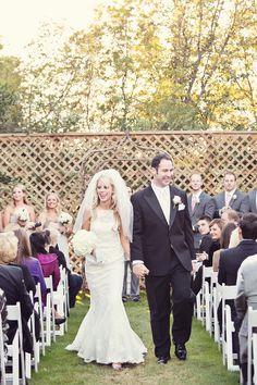 Eldorado Country Club - Bride and Groom walking down aisle  www.eldoradocc.com