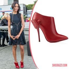 Christian Louboutin Red Leather Huguette Booties