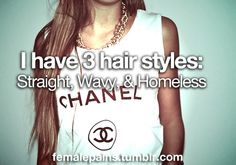 Sad but true. coco chanel, swag, cloth, fashion styles, high waisted shorts, white, t shirts, hair, inspiring pictures