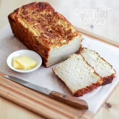 Cauliflower Protein Bread - a low carb, gluten free, keto, lchf, and atkins friendly bread recipe from Chocolate Chilli Mango.