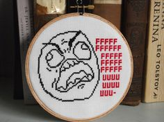 PATTERN FFUUUUU CrossStitch by JosGeekyCreations on Etsy, $5.00