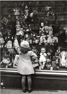 Oh, I remember a doll store like this during the war.  You could even buy new body parts for your doll
