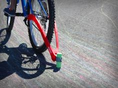 Chalktrail Bike Chalk - I bet the Daddy-o could rig something like this up
