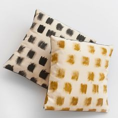 Hand Painted Small Canvas Throw Pillows by annajoyce