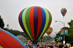 Kingsport Tennessee Fun Fest Breakfast with the Balloons. One of the cool things about summers in Kingsport, my hometown.
