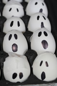 Make these fun ghost bombs with hollowed out egg shells and Talcum Powder. Your kids will love them!