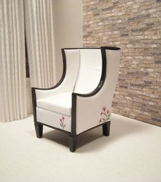 Modern Miniature Wing Chair by janetharvie on Etsy, $69.00