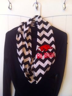Razorback Infinity Scarves and other Collegiate by AWomansWishList, $25.00