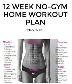 12 week No Gym Worko