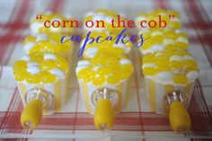 4th of july food | corn on the cob cupcakes