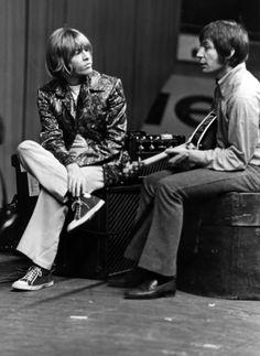 Brian Jones and Charlie Watts