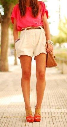 high waisted shorts. looove <3