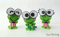 quill creation, paper quill, famili, 3d quilling, quill 3d, keroppi, en quill, frogs, quiddit quill