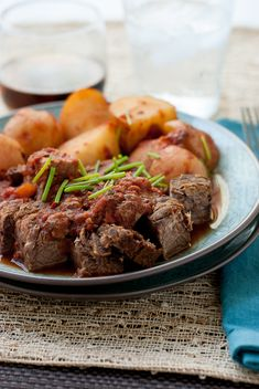 Fathers Day Crock Pot Meat and Potatoes