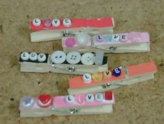 Decorated Clothes Pins with magnet on back- this along with a cute art work piece for a sweet gift.