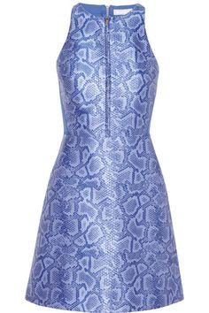 Shop now: Neoprene-paneled python-jacquard dress