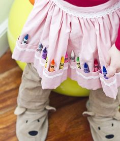 apron, crayons, kids fashion, kids