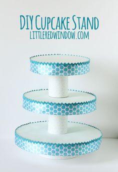 DIY Cupcake Stand   littleredwindow.com