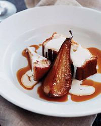 Olive Oil-and-Sauternes Cake with Roasted Pears Recipe on Food & Wine