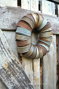 Well, there needs to be good uses for our Ball Canning jar lids!  rusty wreath  jar rings