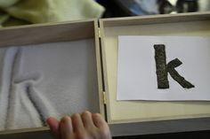 """""""Sand (Salt) Box"""" Great idea for practicing writing letters, numbers, shapes and more."""