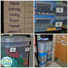 Organizing indoor recess games #classroom #organization