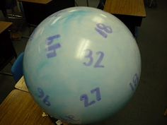 Fact ball - multiplication fact game