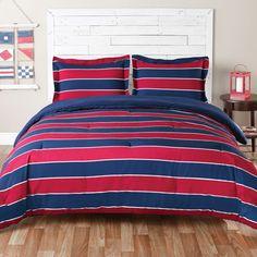 Teen Boy, Full/Queen Comforter Set (Tommy Hilfiger Sebastian) Navy/Red/Blue