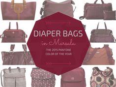 Marsala Diaper Bags