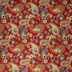 paisley pattern, luxuri fabric, fabricut chromat, luxuri pattern, red fabric