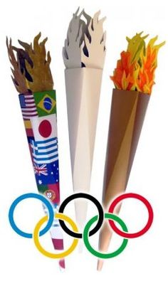 Decorate blank olympic torch