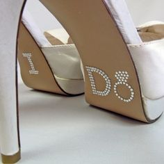 I Do Ring Shoe Stickers in Clear Rhinestones