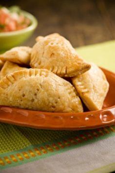 Cheesiest Fried Chicken Empanadas with Chili Con Queso Dip Recipe — Pauladeen.com