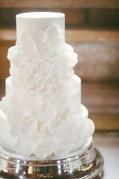 Elegant white tiered cake