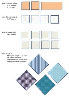 Bee Traditional Blocks - Fabrics by badskirt, via Flickr