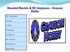 Buy Radio Controlled RC Airplanes by Grayson Hobby