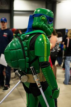 Teenage Mutant Ninja Stormtrooper cosplay at Ottawa Comic Con 2013. The photo was taken by cmbdphotography