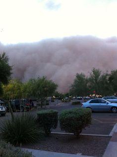 Dust storm in Phoenix, Arizona.
