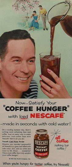 1956 NESCAFE Coffee Vintage advertisement 1950s Nestle by Christian Montone, via Flickr