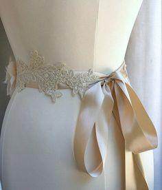 Bridal Sash Belt Wedding Belt Beaded Bridal Sash by FancieStrands, $95.00