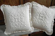 Trapunto Pillows