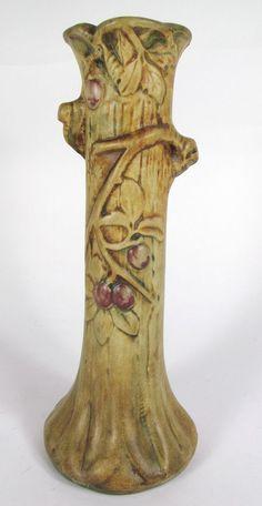 Weller Woodcraft Apple Tree Vase. #antique #vintage #appraisal