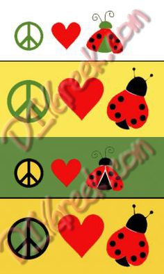 "alpha sigma alpha peace, love, & ladybug  Paint this with our new stencil sold separately for $3.99 and the stencils in the ASA supply sack. 1"" and 1.5"" high.  #alpha sigma alpha, #lady bug, #love, #sorority, #greek, #little sister, #big sister"