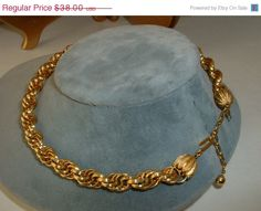 ON SALE Original TRIFARI Golden Multi Chain Link by tea500 on Etsy, $34.20 VJSE Group Team destash repair, craft and repurpose by cindy cooley http://etsy.me/UvwL5n via @Etsy #vjse2 #vintage #jewelry #boebot2