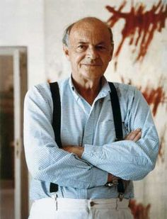 "Edwin Parker ""Cy"" Twombly, Jr. (April 25, 1928 – July 5, 2011) was an American artist well known for his large-scale, freely scribbled, calligraphic-style graffiti paintings, on solid fields of mostly gray, tan, or off-white colors. He exhibited his paintings worldwide."